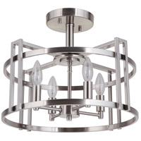 Mariana 671745 Carmen 4 Light 17 inch Brushed Nickel Semi Flush Mount Ceiling Light