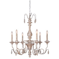 Mariana Signature 6 Light Chandelier in Weathered Ecru 713016