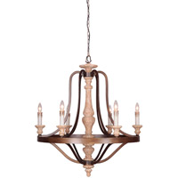 Mariana Cottage 6 Light Chandelier in Rustic and Bronze 720600