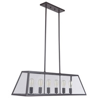 Branson 6 Light 42 inch Bronze Pendant Ceiling Light