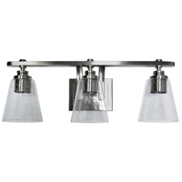 Mariana 760345 Brixton 3 Light 21 inch Brushed Nickel Bath Vanity Wall Light