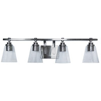 Mariana 760445 Brixton 4 Light 31 inch Brushed Nickel Bath Vanity Wall Light