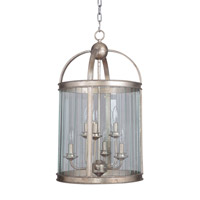 Mariana Wesley 6 Light Pendant in Antique Silver Leaf 760614