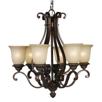 Mariana Imports Sonoma 6 Light Chandelier in Tortoise 770686
