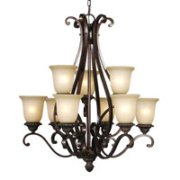 Mariana Imports Sonoma 9 Light Chandelier in Tortoise 770986