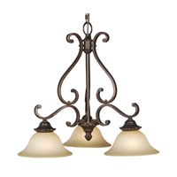 Mariana Imports Sonoma 3 Light Chandelier in Tortoise 772686