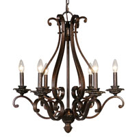 Mariana Imports Sonoma 6 Light Chandelier in Tortoise 776686
