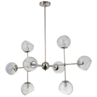 Mariana 800825 Baltic 8 Light 48 inch Polished Nickel Chandelier Ceiling Light