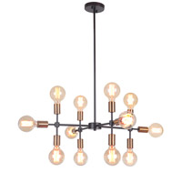 Mariana 801274 Phoenix 12 Light 28 inch Bronze/Brass Chandelier Ceiling Light