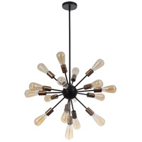 Mariana 801774 Golding 17 Light 25 inch Bronze and Brass Pendant Ceiling Light