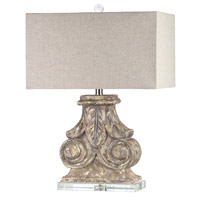 Mariana Signature 1 Light Table Lamp in Antique Washed 830011