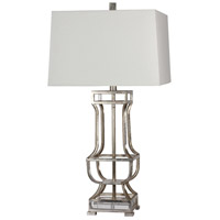 Emmett 29 inch 150 watt Silver Leaf/Cystal Table Lamp Portable Light