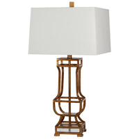 Destiny 29 inch 150 watt Gold Leaf/Crystal Table Lamp Portable Light