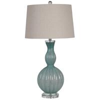 Mariana 830021 Fiona 33 inch 150 watt Blue/Gold Fleck Art Glass Table Lamp Portable Light