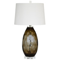 Denzel 31 inch 150 watt Taupe Glass Table Lamp Portable Light