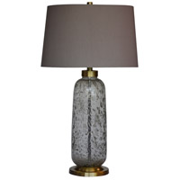 Leon 31 inch 150 watt Gold Flexed Art Glass Table Lamp Portable Light