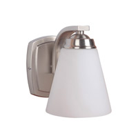 Metropolis 1 Light 6 inch Satin Nickel Vanity Wall Light