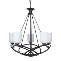 Zodiac 5 Light 31 inch Urban Bronze Chandelier Ceiling Light