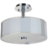 Mariana 891605 Brooklyn 3 Light 16 inch Chrome Semi Flush Mount Ceiling Light