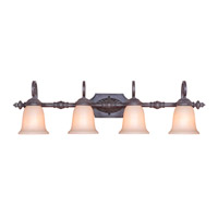 Old World 4 Light 38 inch Oil Rubbed Bronze Wall Sconce Wall Light