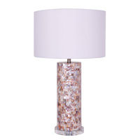 Mariana Nacre 1 Light Table Lamp in Satin Nickel 970102