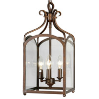 Stately 3 Light 9 inch Venezia Hanging Lantern Ceiling Light