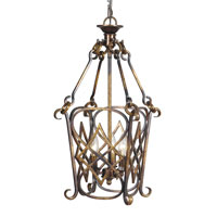 Mariana Imports Signature 3 Light Foyer Lantern in Torched Copper 980025