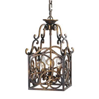 Mariana Imports Signature 3 Light Foyer Lantern in Torched Copper 980026