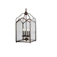 Stately 4 Light 14 inch Heritage Bronze Hanging Lantern Ceiling Light