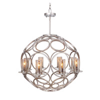 Mariana Signature 8 Light Pendant in Antique silver leaf 980070