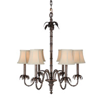 Mariana Tropics 6 Light Chandelier in Antique Brass 980072