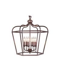 Cage 6 Light 22 inch Bronze Pendant Ceiling Light