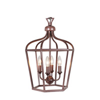 Mariana Cage 4 Light Pendant in Bronze 980074