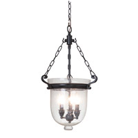 Cloche 3 Light 13 inch Bronze Pendant Ceiling Light
