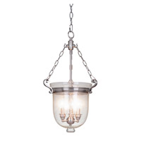 Cloche 3 Light 13 inch Pewter Pendant Ceiling Light