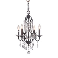 Adorned 4 Light 16 inch Aged Venezia Chandelier Ceiling Light