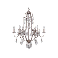 Adorned 6 Light 31 inch Vintage Champagne Chandelier Ceiling Light