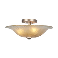 Saffron 3 Light 9 inch Semi-Flush Pendant Ceiling Light