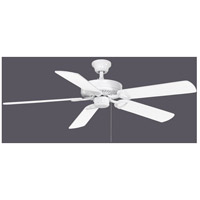 America 52 inch Gloss White with Reversible White/Wood Tone Blades Ceiling Fan, Atlas