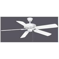 Matthews Fan Co AM-TW-WH-52-LK America 52 inch Gloss White with Reversible White/Light Oak Wood Tone Blades Ceiling Fan Atlas