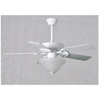 Matthews Fan Co AM-TW-WH-42 America 42 inch Gloss White with Reversible White/Wood Blades Indoor Ceiling Paddle Fan