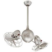 Matthews Fan Co AQ-BN-MTL Acqua 37 inch Brushed Nickel Ceiling Fan Atlas