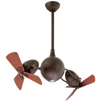 Acqua 38 inch Textured Bronze with Mahogany Tone Wood Blades Outdoor Ceiling Fan, Atlas