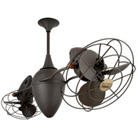 Ar Ruthiane 48 inch Bronze with Bronze Metal Blades Ceiling Fan, Rotational