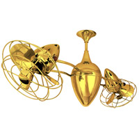 Matthews-Gerbar by Matthews Fan Company Ar Ruthiane Ceiling Fan in Gold with Gold Blades AR-GOLD-MTL
