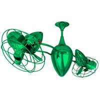 Matthews-Gerbar by Matthews Fan Company Ar Ruthiane Ceiling Fan in Green with Green Blades AR-GREEN-MTL