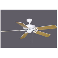 America 52 inch Gloss White with Reversible White/Wood Blades Indoor Ceiling Paddle Fan