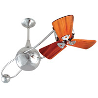 Brisa 2000 40 inch Polished Chrome with Mahogany Blades Ceiling Fan, Matthews-Gerbar