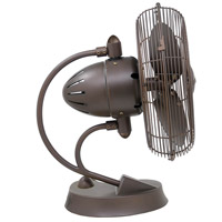 Matthews Fan Company Cinni Table Fan in Textured Bronze CI-TB