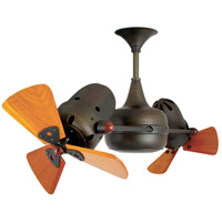 Duplo-Dinamico 36 inch Bronze with Mahogany Wood Blades Ceiling Fan, Rotational